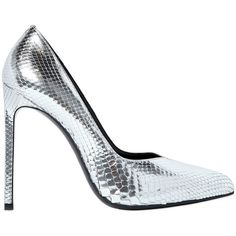 Saint Laurent Women 120mm Paris Embossed Leather Pumps ($820) ❤ liked on Polyvore featuring shoes, pumps, heels, silver, ysl, high heel platform shoes, pointed toe high heel pumps, leather platform shoes, pointed toe pumps and pointy-toe pumps