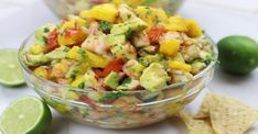Recipes Snacks Videos Mango Shrimp Salsa recipe is so refreshing on a hot summer's night with your favorite healthy chips. My family is addicted! Shrimp Salsa Recipe, Shrimp Recipes, Chicken Recipes, Ceviche Recipe, Shrimp Salad, Appetizers For A Crowd, Seafood Appetizers, Appetizer Recipes, Healthy Appetizers
