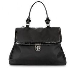 """OOYOO diaper bag """"Brooke"""" black noir satchel - front view"""