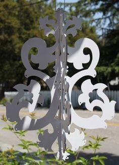 Michelle chandelier painted white par iTagStudios sur Etsy, $47,00