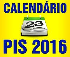 calendário pis 2016