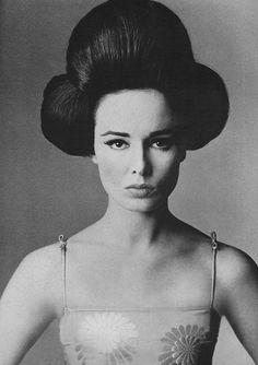 October Vogue 1962. Coiffure by Carita's of Paris. Oui.