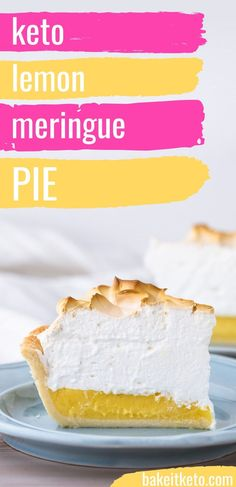 What keto lemon meringue pie has been missing! Smooth and ethereal meringue tops the perfect fresh, tangy, never watery lemon filling. All wrapped up in most perfect all-butter low carb crust. Lemon Dessert Recipes, Sugar Free Desserts, Lemon Recipes, Low Carb Desserts, Diet Recipes, Ketogenic Recipes, Healthy Recipes, Lemon Meringue Cake, Mile High Lemon Meringue Pie Recipe