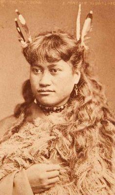a portrait of a maori