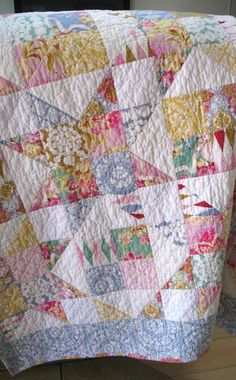 A Baby Quilt for Henry – Lori Kennedy Quilts – Famous Last Words Colchas Quilting, Scrappy Quilt Patterns, Scrappy Quilts, Easy Quilts, Mini Quilts, Quilting Designs, Vintage Quilts Patterns, Machine Quilting, Quilting Ideas