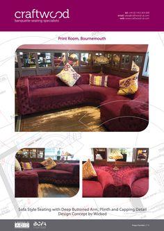#sofa #seating #bespoke #fabric #buttonedarm #craftwood