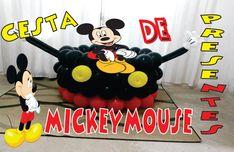 Como Fazer Cesta de Presente do Mickey Mouse de Balões