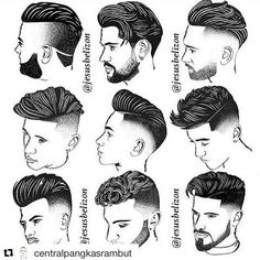 "38 Likes, 2 Comments - L.A. Shear ✂️ Hikari Shears (@lashearbeauty) on Instagram: ""Sketched out Men's cuts ✂️ ************ #Repost @centralpangkasrambut (via @repostapp) ・・・ Ada yang…"""