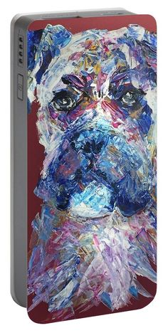 Boxer Dog: A design by Kelly Goss Art printed on to portable battery chargers with various recharge capacities. For recharging your smartphone or tablet.