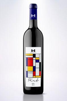 Des étiquettes de bouteilles de vin inspirées d'artistes connus | Creapills : média et moteur de recherche d'idées créatives