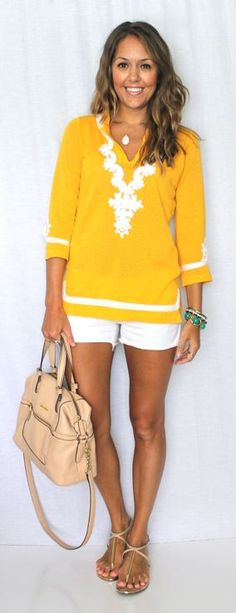 Today's Everyday Fashion: The Tunic — The answer to your spring/summer wardrobe troubles! Throw on a bright tunic with your favorite shorts and you're ready for the beach, running around town, and more! Where would you sport this style?