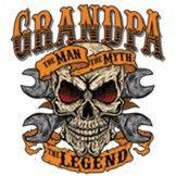 Men's Grandpa - The Man The Myth The Legend Grand fatherT-Shirt . Harley Davidson Quotes, Harley Davidson Wallpaper, Classic Harley Davidson, Harley Davidson Motorcycles, Biker Quotes, Trucker Quotes, Printing Supplies, Slogan Tshirt, Garage Art