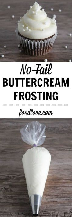 No-Fail Buttercream Frosting: thick and fluffy frosting that works perfectly every time!