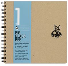 """Bogus Recycled Rough Sketchbooks, 50 sheets, 9"""" x 9"""""""
