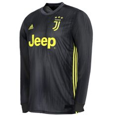 11ba5c8692a 18-19 Juventus Third Away Black Long Sleeve Soccer Jersey Shirt Soccer Kits
