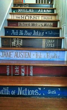 Literary steps I might have to do this!