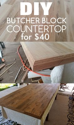 Diy Kitchen Island, Kitchen Redo, Diy Kitchen Tables, Kitchen Remodel, Walnut Kitchen, Home Fix, Diy Countertops, Reno, Diy Home Improvement