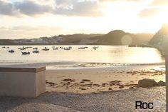 S. Martinho Leiria city Portugal roc2c cor branca pavimento tradicional por do sol mar praia Portuguese pavement promenades
