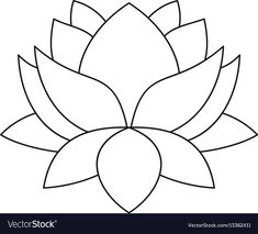 Outline illustration of lotus flower vector icon for web. Stained Glass Tattoo, Stained Glass Quilt, Stained Glass Flowers, Stained Glass Patterns Free, Stained Glass Designs, Stained Glass Projects, Free Mosaic Patterns, Stained Glass Church, Stained Glass Christmas