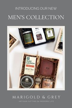 Explore our curated gift boxes for him collection. All luxury gifts include complimentary custom handwritten notecards and our award-winning curated gift design. Free U.S. Shipping