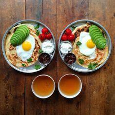 This boyfriend prepares beautiful breakfasts for partner.
