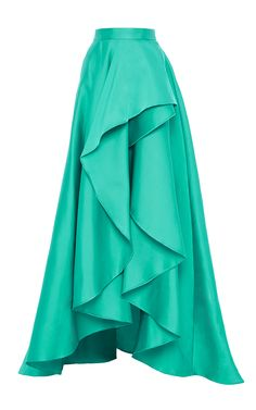 Cascade Front Evening Skirt by Monique Lhuillier for Preorder on Moda Operandi