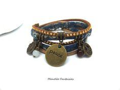 Bracelet PEACE Manoléo Fantaisies - Manoléo Fantaisies