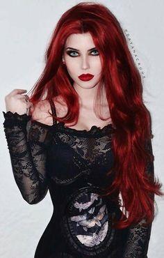 Beautiful Redhead Gothic Model, Dayana Crunk!