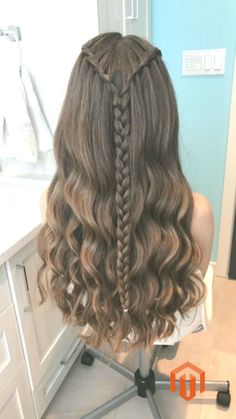 """"" Waterfall Braid Hairstyles that looks flirty and fashionable – Hike n Dip """" Peinado trenza cascada """" Cute Hairstyles For Teens, Easy Hairstyles For Long Hair, Pretty Hairstyles, Teenage Hairstyles, Natural Hairstyles, Hairstyle Ideas, Braided Hairstyles Tutorials, Box Braids Hairstyles, Wedding Hairstyles"