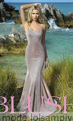Long Shimmer Designer Prom Dress by Blush Metallic Prom Dresses, Blush Prom Dress, Senior Prom Dresses, Hoco Dresses, Party Dresses, Plus Size Formal Dresses, Designer Prom Dresses, Prom Girl, Girls