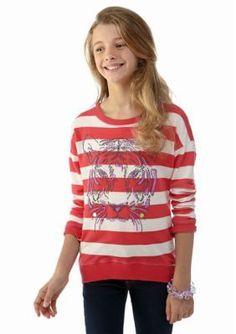 Belle du Jour  Tiger Stripe Sweatshirt Girls 7-16