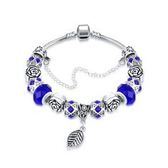 CHICUU - CHICUU Color Crystal Beads Europe Combined Bracelet - AdoreWe.com
