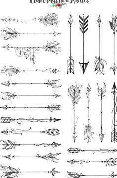 Arrow Tattoos For Women, Tiny Tattoos For Women, Small Tattoos, Small Arrow Tattoos, Boho Tattoos, Feather Tattoos, Body Art Tattoos, Tatoos, Bow Tattoo Designs