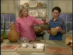 Watch Martha Stewart's How To Make Bowls From Dried Gourds Video.