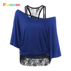 Foonee 2017 New Lace T-shirt Women Summer Sexy Sleeve Off Shoulder Patchwork T shirt O-neck Lady Tops Tees Femme Camisetas Mujer