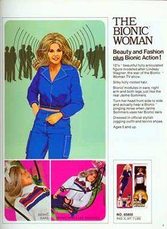 The Bionic Woman TV Show JAMIE /& MAX Vintage Style Juniors Cap Sleeve T-Shirt