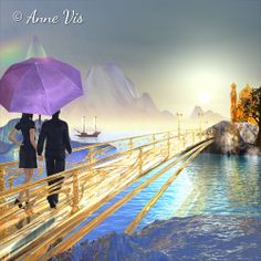 At the end of the Rainbow - #art #rainbow #landscape #dream