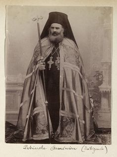 Armenians and Armenian Photographers in the Ottoman Empire. J. Pascal Sebah (Armenian, 1823-1886), Armenian Patriarch, ca. 1880. Los Angeles, Getty Research Institute (96.R.14, Box 80) -