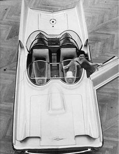 The Lincoln Futura. Made as a concept car mid-1950s, it was sold and turned into the Original Batmobile. @designerwallace