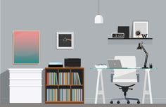 Super Cool Home Offices Illustrations