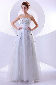 Weekly Special Product: Weißem Tüll Prinzessin Hochzeitskleid ma3158 - Order Link: http://www.modeabendkleider.de/weissem-tull-prinzessin-hochzeitskleid-ma3158.html - Farbe: White; Silhouette: Prinzessin; Ausschnitt: Riemen; Verzierungen: Perlen, Rüschen,