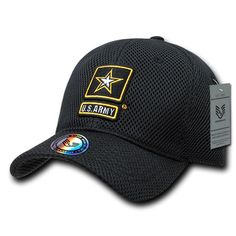 3413c9100c5 United States Army US Army Black Mesh OFFICIALLY LICENSED Baseball Cap Hat