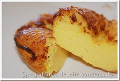 Queijadinhas de leite condensado Other Recipes, Sweet Recipes, Cake Recipes, Dessert Recipes, Portuguese Desserts, Portuguese Recipes, Portuguese Food, Food Cakes, Fudge