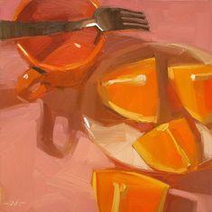 Daily Paintworks ArtByte: Fine Art Tutorial - Free Orange Slice Demo Video