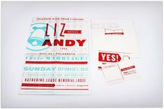 Designspiration — Andy & Liz Wedding Invitation - FPO: For Print Only