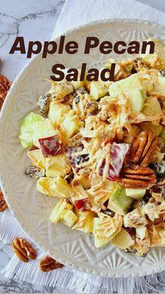 Apple Salad Recipes, Healthy Salad Recipes, Healthy Snacks, Vegan Recipes, Healthy Eating, Cooking Recipes, Recipe For Salad, Healthy Broccoli Salad, Mexican Salad Recipes