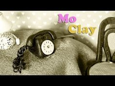 ▶ DIY Polymer clay tutorial telephon miniature scale 1:12 - YouTube