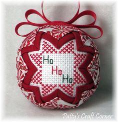 Quilted Keepsake Ornament Santa / HO HO HO by PattysCraftCorner