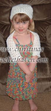 Summer Bright Dress and Shrug crochet pattern