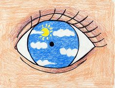 I came across this image a little while ago and thought it would work well as a 'going for goals' piece of artwork.  Children can draw the eye, then inside draw what they see happening in the coming year/what they want to achieve.